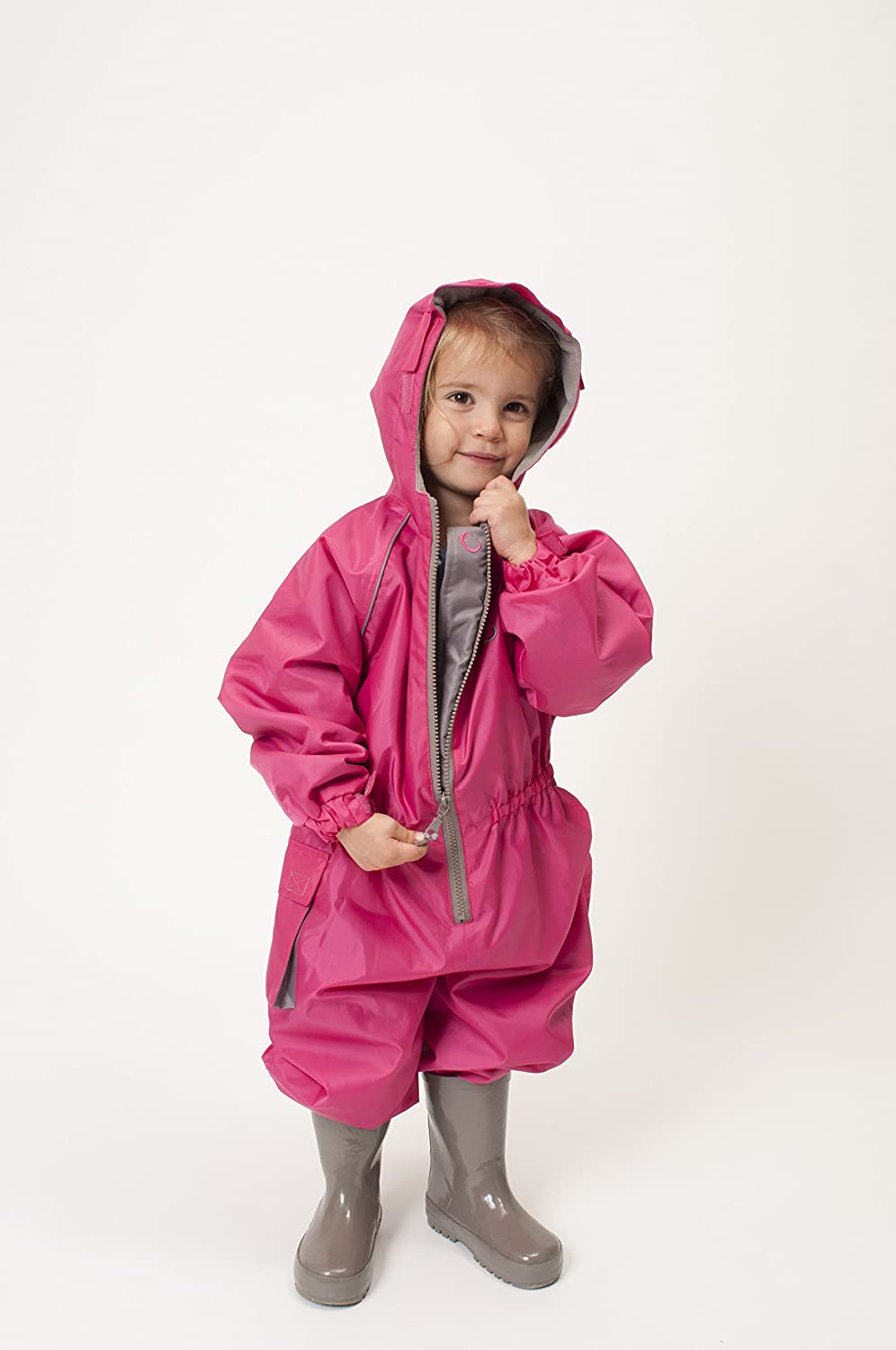 12-18 Months Pink Hippychick Waterproof All-in-One Suit