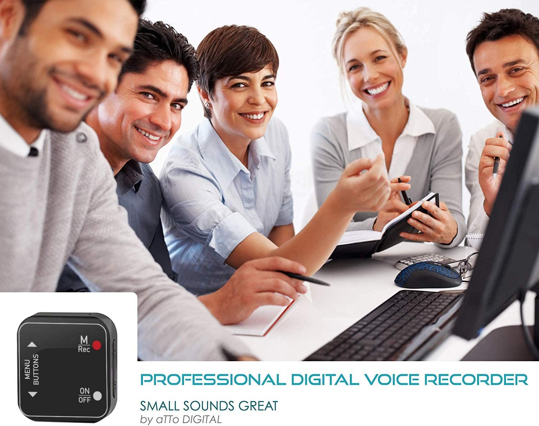 USB para Aprendizaje en el Aula Reproductor de Audio MP3 bol/ígrafo de grabaci/ón negociaciones comerciales, Grabadora de Voz de 1,2 Pulgadas con Pantalla de visualizaci/ón de 8-320 Kbps