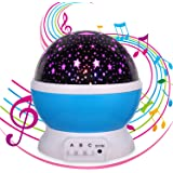 Night Light for Kids,Music Star Projector, Sleeping Soothing White Noise Sound Machine,12 Songs,Kids Gifts for 1 2 3 4 5…