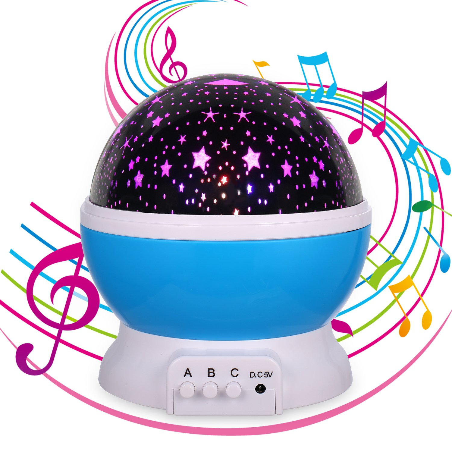 MINGKIDS Lullaby Night Light, Music Star Projector