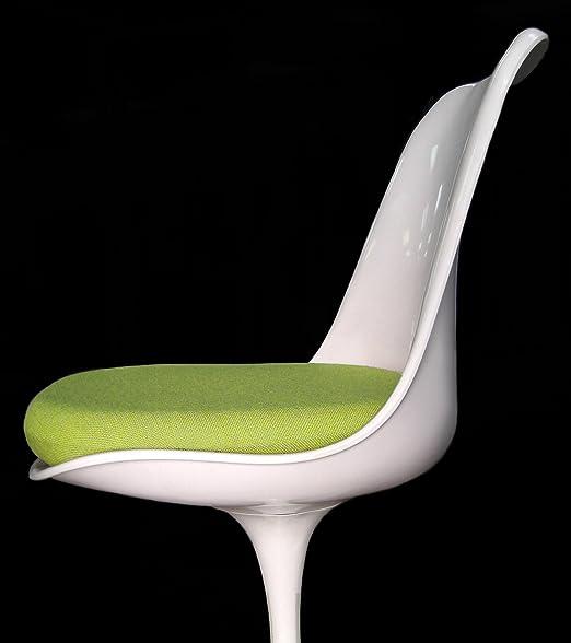 Verde Tulip silla - Funda para cojín (lino: Amazon.es: Hogar