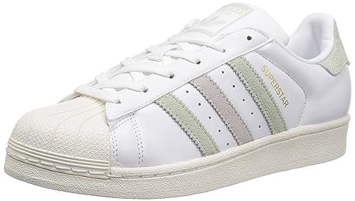 on sale 79a06 91fe3 Adidas Originals Superstar W, Blanco, Verde, púrpura (White Linen Green Ice