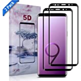 Samsung Galaxy S9 Plus Screen Protector Xawy [2-Pack], [Case-Friendly] Tempered Glass Screen Protector for Samsung Galaxy S9 Plus - (Clear)