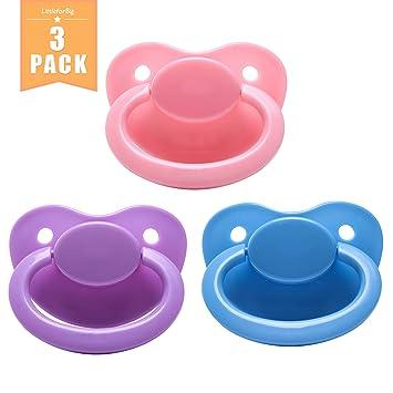 littlef orbig bigsh – Generación 2 adultos Tamaño Chupete Dummy para adultos Baby abdl de color rosa , Azul , Lila