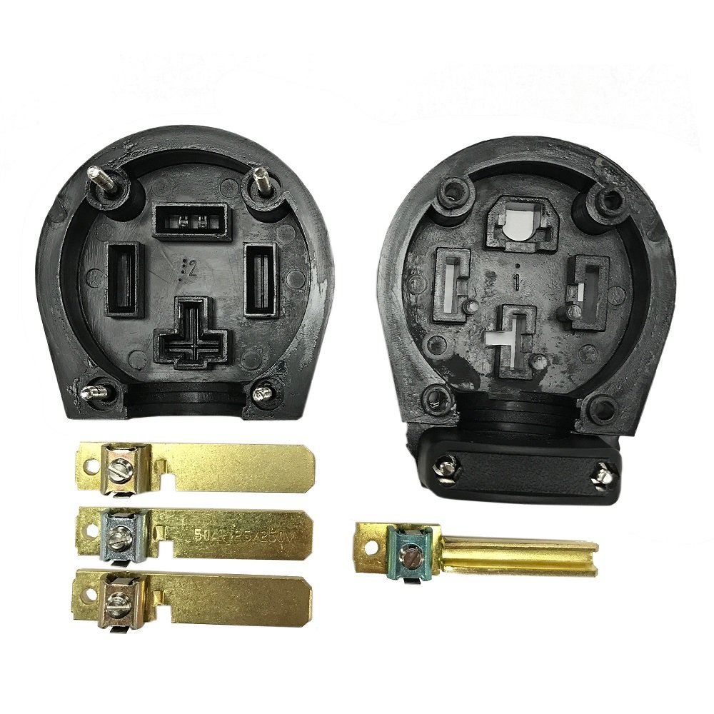 30 50a Blk Range Plug Appliances Wiring A 50 Amp Outlet For Stove