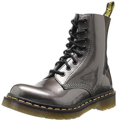 e34293ac00dd9c Dr. Martens Pascal Spectra Patent en étain Bottines pour femme Argenté/étain  - Argenté - étain,: Amazon.fr: Chaussures et Sacs