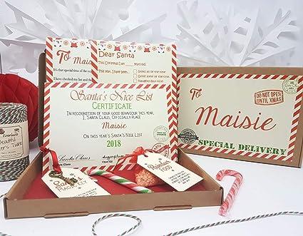 Nochebuena caja personalizable A5 tamaño Papá Noel carta ...
