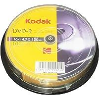 Kodak DVD-R Kodak DVD-R 4.7GB 16x Spindle 10 Pack, (580132)