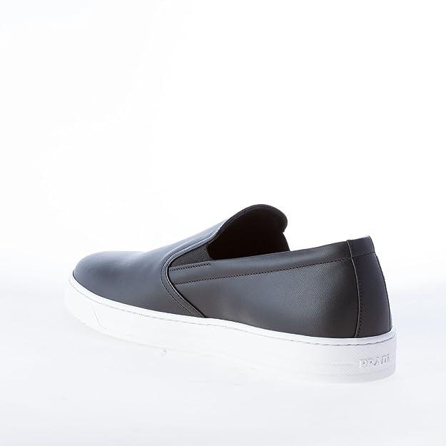 Prada Uomo Slip on in Pelle Nero con Freccia Pop-Art Color Nero Size 40 id02m