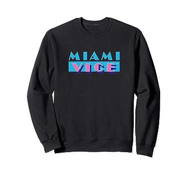 2fce37167 Amazon.com: Miami Vice Logo Crew Neck Sweatshirt: Clothing