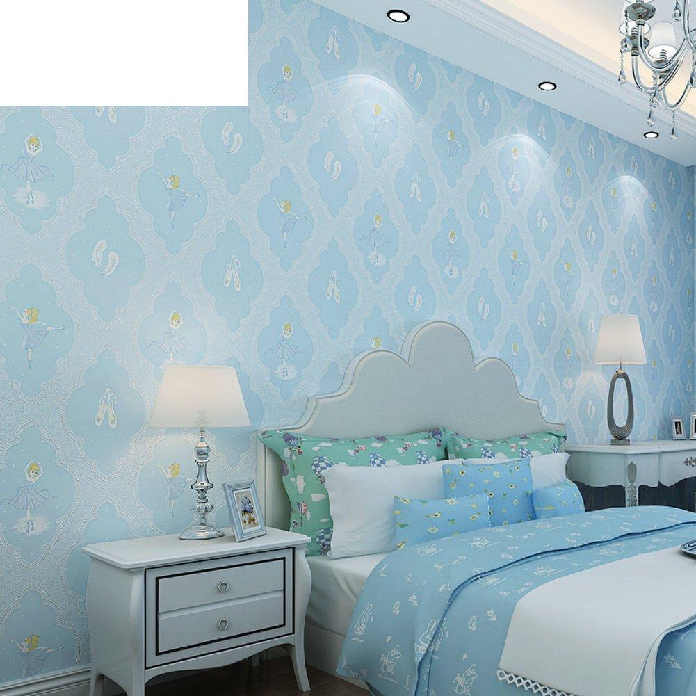 Amazon グリーンエンボス子供部屋壁紙ベッドルーム女の子部屋壁紙