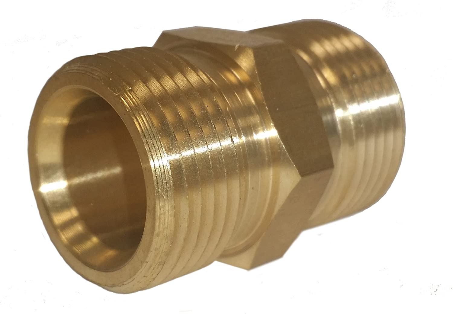 European Hose Coupler M22 x M22 14mm Fits Most Hoses W// Screw On Couplers