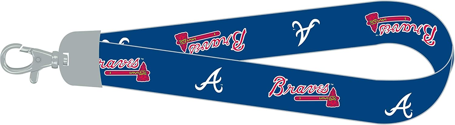 MLB Wrist Lanyard with Woven Nylon Strap and Full-Color Team Logo