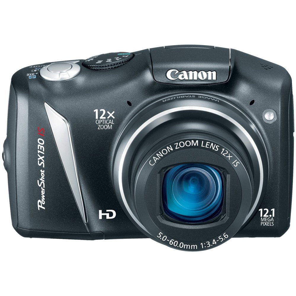 Canon PowerShot SX130IS 12.1 MP Digital Camera with 12x Wide Angle Optical Image Stabilized Zoom with 3.0-Inch LCD (Discontinued by Manufacturer) Canon - Cameras Cameras & Video Devices
