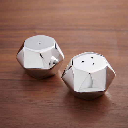 Mini Geo Salt + Pepper Shaker Set | west elm