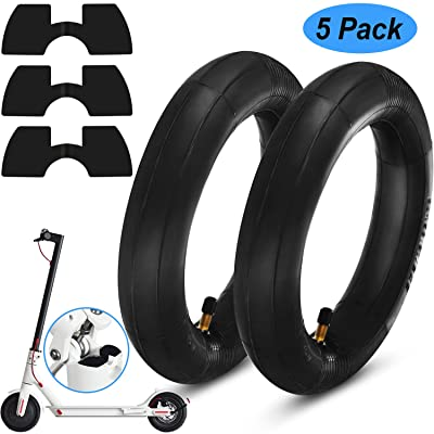 Blulu 2 Pair 8.5-Inch Thickened Inner Tubes for Xiaomi M365 Electric Scooter Inflated Spare Tire 3 Pieces Rubber Vibration Dampers Electric Scooter Replacement Accessory: Automotive
