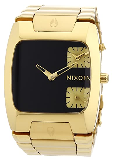 Nixon A060510-00 - Reloj analógico de cuarzo para hombre con correa de acero inoxidable, color dorado: Amazon.es: Relojes