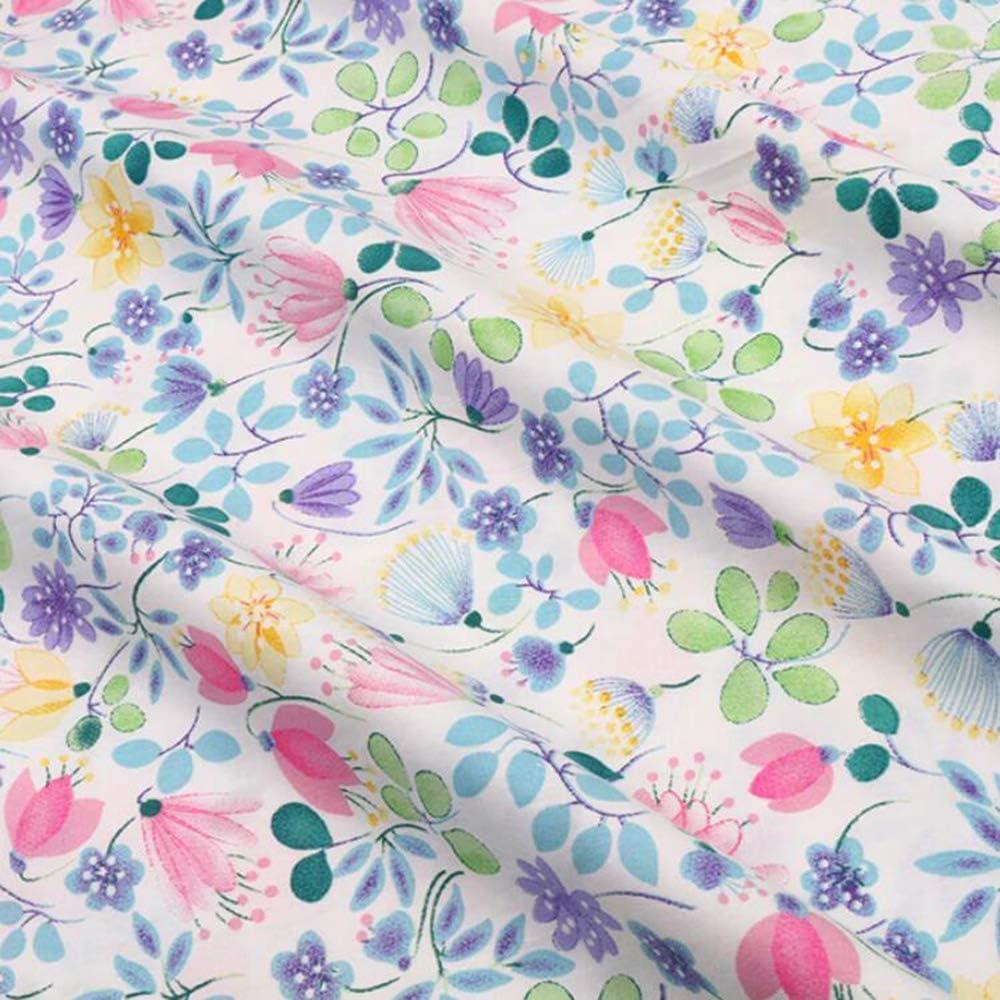 Viola violeta patchwork de tela de algodón Maywood 50x110 cm nuevo