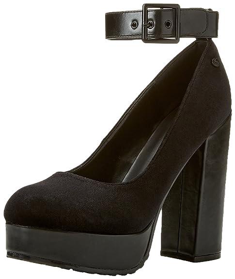 Tata Italia S21735-E03, Zapatos con Plataforma para Mujer, Negro, 38 EU