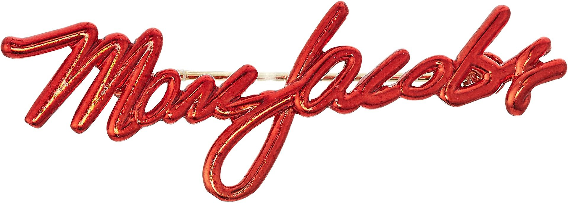 Marc Jacobs Women's Signature Logo Brooch Red One Size