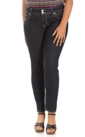 5f32e6e1cd2 Amazon.com  WallFlower Plus Size Luscious Curvy Skinny Jeans in Elle ...