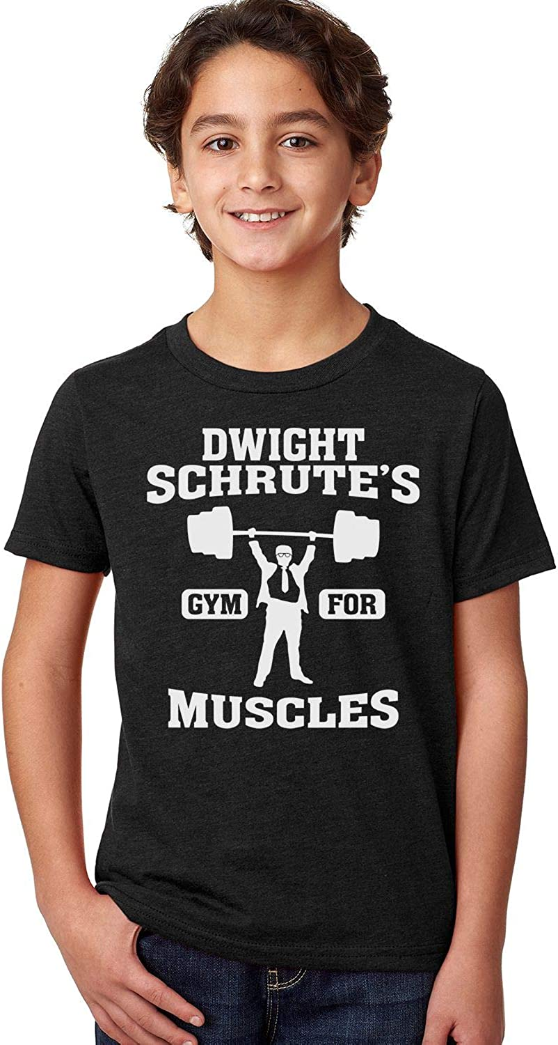 Good Clothes Co Dwight Schrutes Gym for Muscles Unisex Youth Shirt