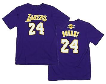 NBA juventud Los Angeles Lakers Kobe Bryant # 24 Gametime jugador camiseta, color morado, Atlético, Púrpura: Amazon.es: Deportes y aire libre