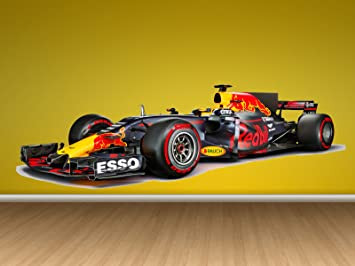 Amazoncom Formula Red Bull Team Full Color Sticker F Decal - Formula 1 wall decals