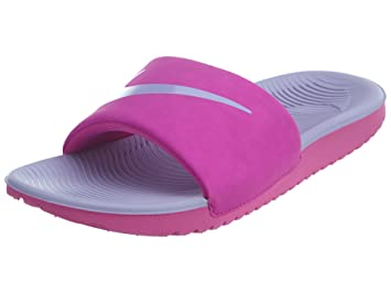 sale retailer 92ea8 d2753 Nike Youth Kawa Slide Synthetic Sandals,Pink,5.5 UK(38.5 EU)