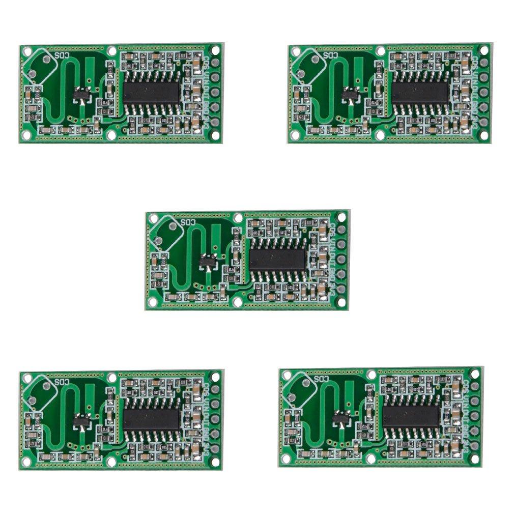 CHENBO 5 Pcs RCWL-0516 Microwave Radar Sensor Module Human Body Induction  Switch Module Intelligent Sensor
