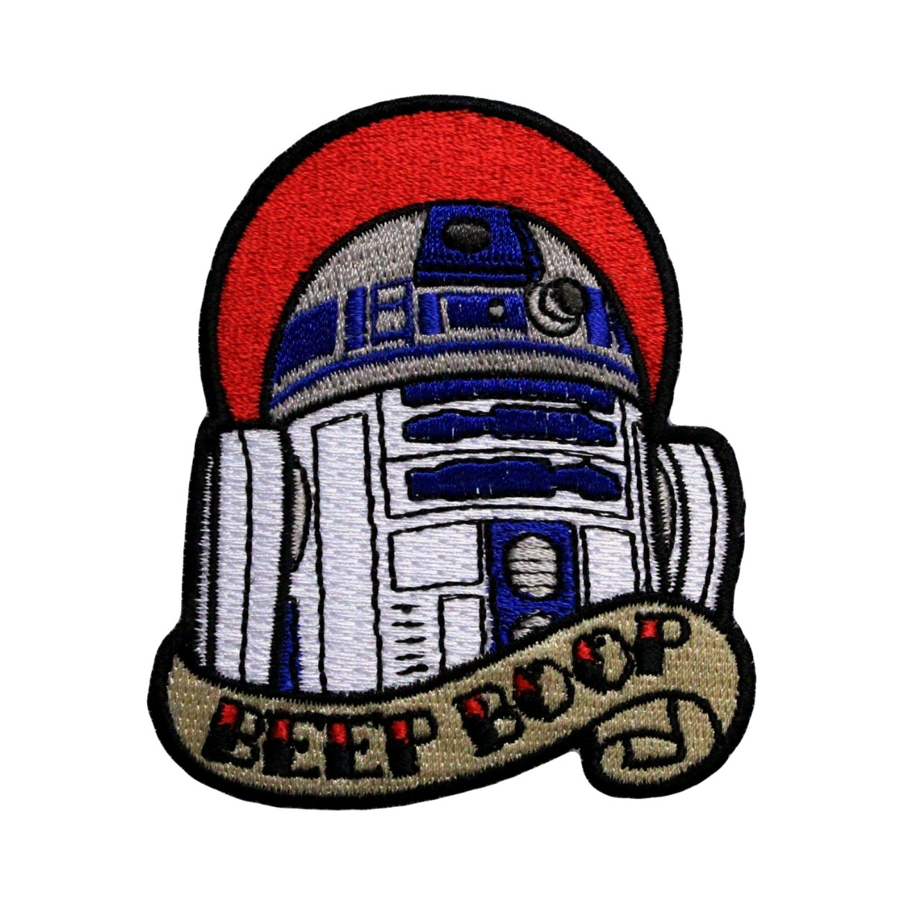 InspireMe Family Owned Star Wars R2D2 Beep Boop Sew/Iron On Patch 3' x 2.75'