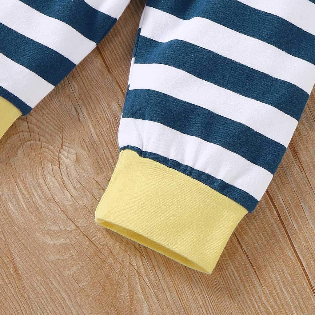 Pantalones A Rayas Ropa Conjuntos 3-18 Meses Ni/ñA Ni/ñOs Beb/éS Ropa Manga Larga Casual Sudaderas con Capucha Tops Ch/áNdal