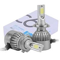 ICOCO 110W Auto C6 H7 LED Scheinwerfer Kit Birnen Headlight Hi/Lo Lampe COB Chip 20000lm 6000K Umbausatz 12V/24V Ersatz Halogen oder HID Birnen