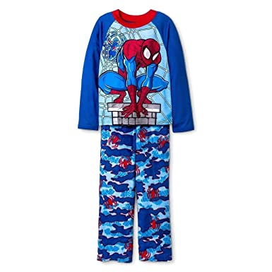 de861fd779 Image Unavailable. Image not available for. Color  Spider-Man Size 8 Boy s  Polyester and Fleece Pajama ...