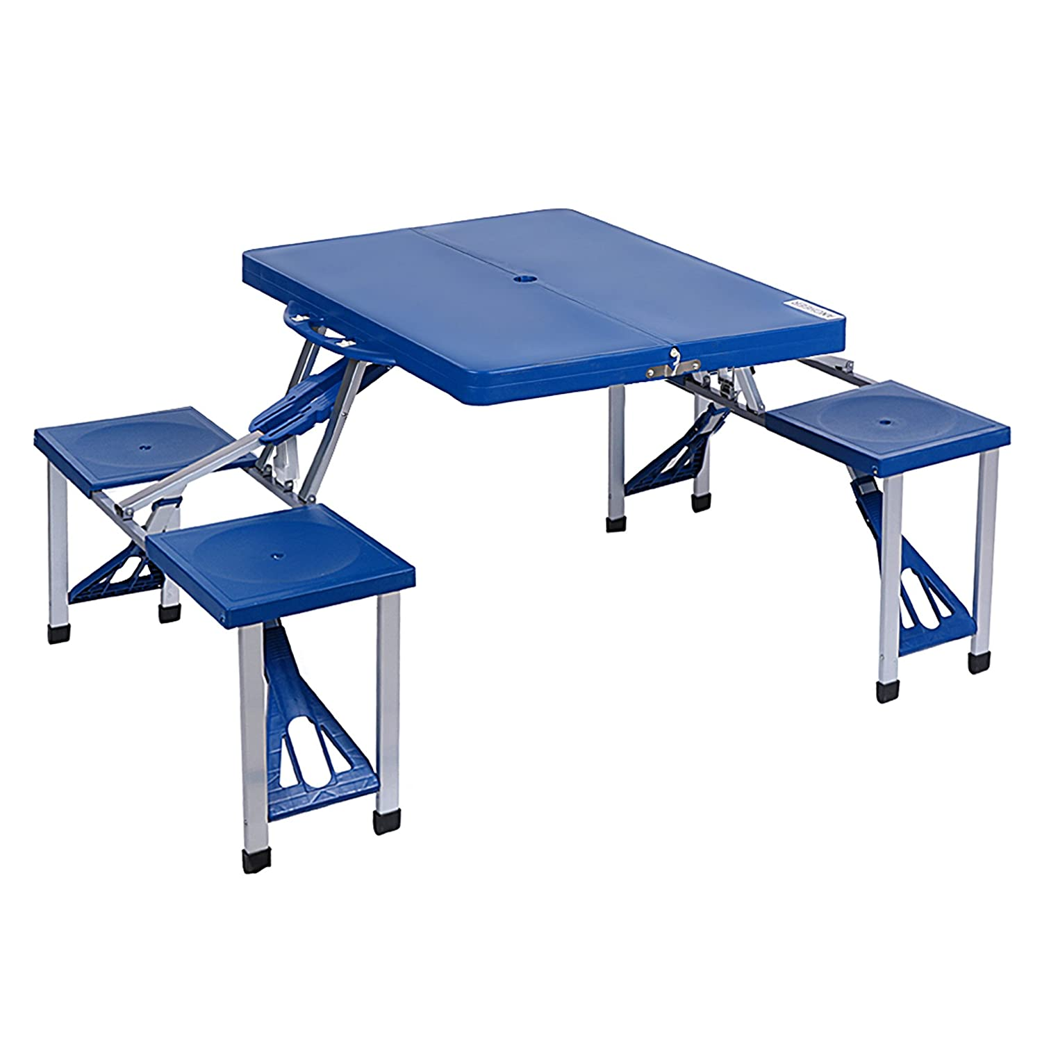 Amazon.com: Ancheer Portable Folding Camping Table, Plastic Outdoor ...