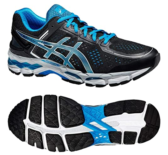 Asics Gel-Kayano 22 - Zapatillas de Running para Hombre, Color Negro y Azul, Color Negro, Talla 48 EU: Amazon.es: Zapatos y complementos