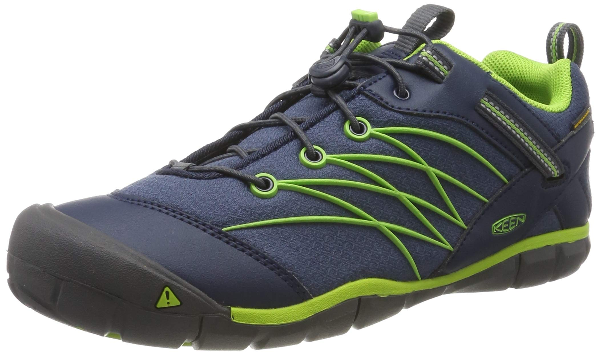 Keen Chandler CNX WP Hiking Shoe, Dress Blues/Greenery, 7 M US Big Kid