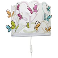 Dalber Lámpara Aplique Pared infantil Butterfly Mariposas Multicolor, 60 W
