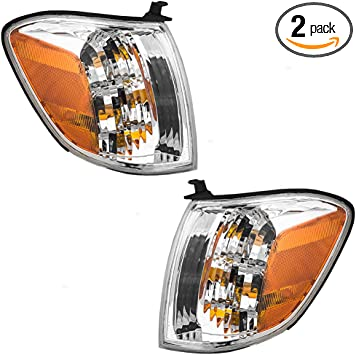 Driver and Passenger Signal Corner Marker Lights Lamps Replacement for Toyota SUV Pickup Truck 815100C030 815200C030 AutoAndArt