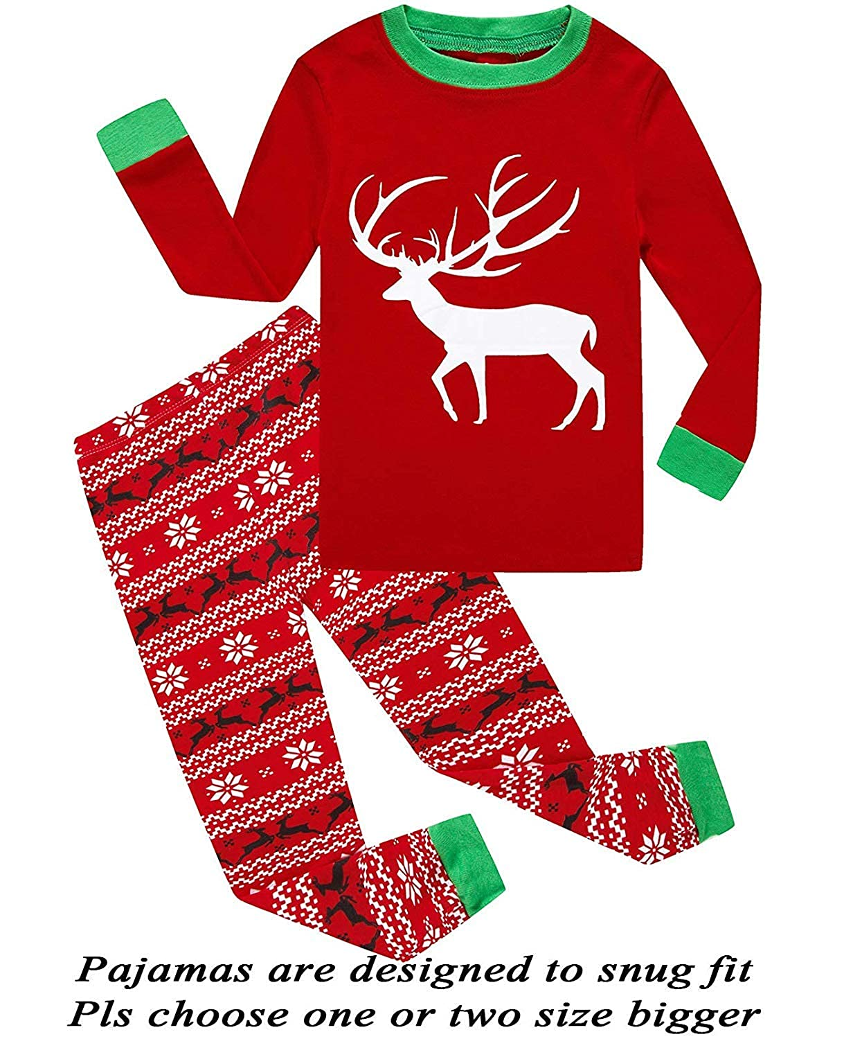 sportsmanship Boys Girls Christmas Reindeer Tees Toddler Clothing Kids Children Sleepwear