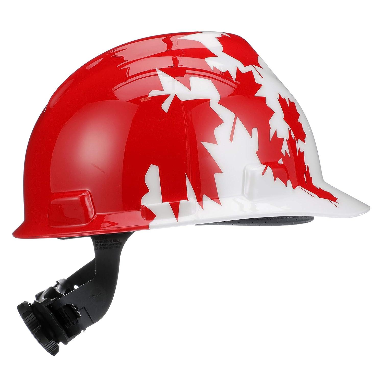 5b61aeae40765 MSA 10050613 V-Gard Hard Hat Front Brim with Ratchet Suspension ...