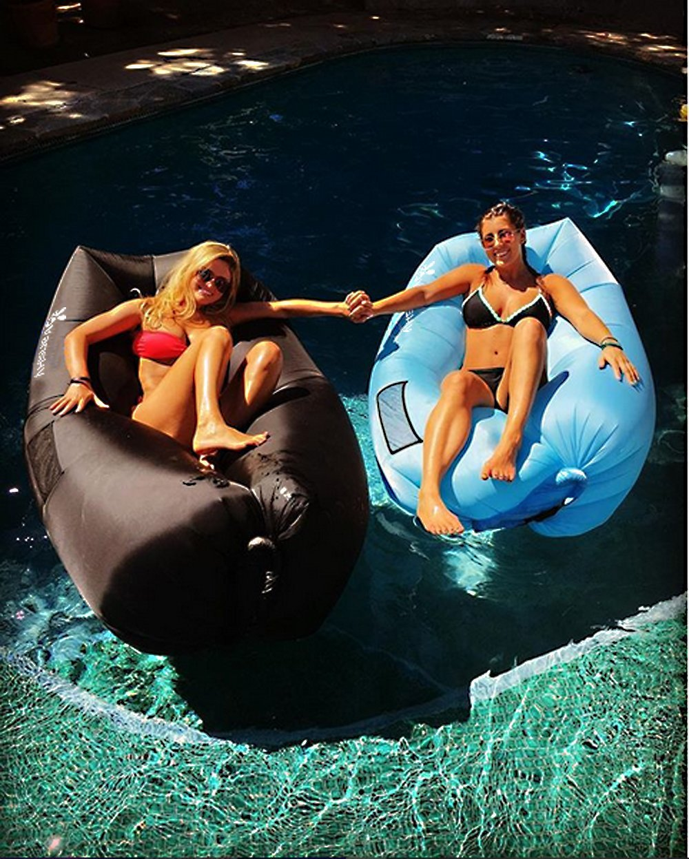 Outdoor or Indoor Inflatable Chair for Camping,Beach,Park,Backyard Vansky Inflatable Lounger Inflatable Couch Hammock Portable Air Chair Air Filled Beach Lounger Nylon Fabric Hangout Sofa Bag
