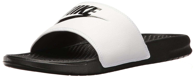 Nike Benassi Jdi, Herren Flip Flop  7 D (M) US|Mehrfarbig (Blanco / Negro (White / Black-black))
