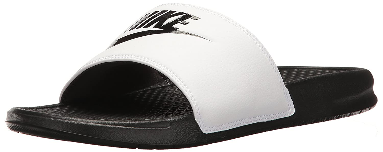 Nike Benassi Jdi, Chanclas Hombre 38.5 EU Multicolor (White/Black/Black)