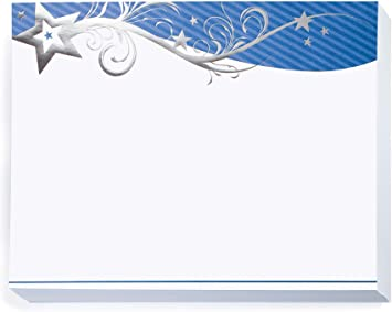 50 Sheet Count 8.5 Inches x 11 Inches White with Silver Foil Border Specialty Certificates