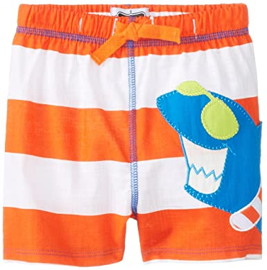 93fdd46ccf Amazon.com: Mud Pie Baby-Boys Newborn Shark Swim Trunks: Clothing
