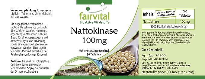 Nattokinase 100mg comprimidos - VEGANO - Altamente ...