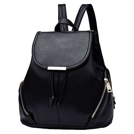 Amazon.com: Coafit Womens Backpack Casual Daypack Artificial Leather Flap Cover Travel Backpack: PickTek