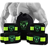 Stargoods Occlusion Bands, Restriction of Blood Flow Muscle Straps Training for Arms and Legs, 4 Pack