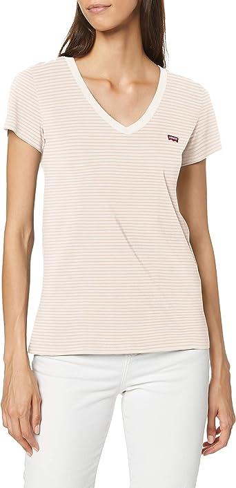 Oferta amazon: Levi's Vneck Camiseta para Mujer Talla M